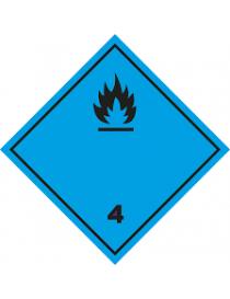 Etiqueta emanación de gas inflamable al contacto con el agua (Clase 4.3)