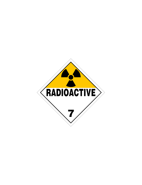 Etiqueta materias radioactivas (clase 7)