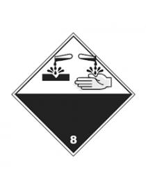 Etiqueta materias corrosivas