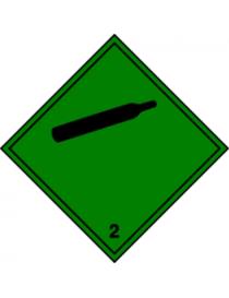 Etiqueta Gases no inflamables no tóxicos (Clase 2.2)