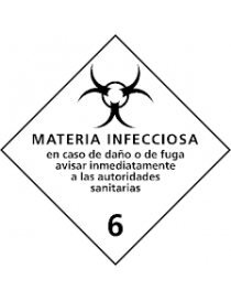 Etiqueta materia infecciosa (Clase 6.2)