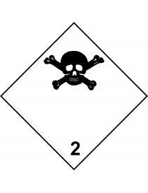 Etiqueta Gases Toxicos (Clase 2.3)