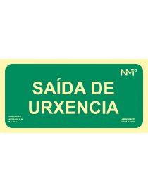 SINAL SAÍDA DE URXENCIA