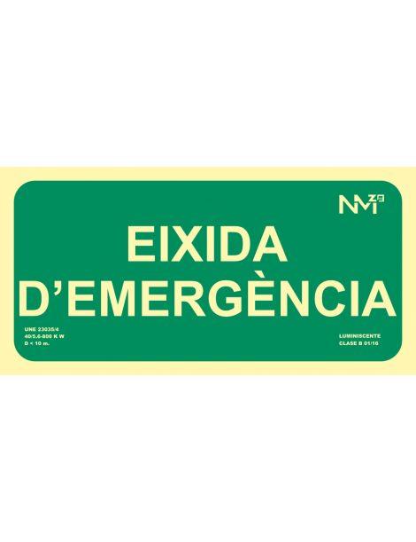 SEÑAL EIXIDA D'EMERGÈNCIA