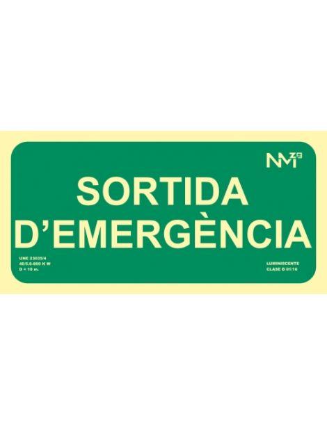 SEÑAL SORTIDA D'EMERGÈNCIA